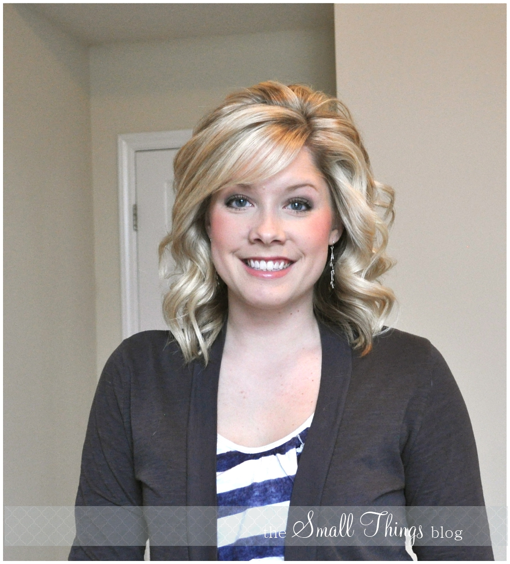 hairstyles with front bangs : Curling with a Flat Iron