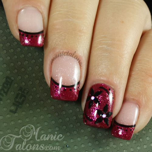 Funky French manicure with NFC Nail Lights