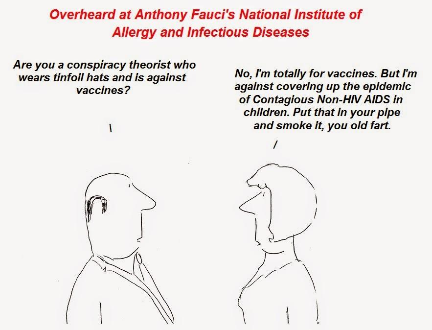 vaccines, cartoon, cartoons, fauci, aids, non-hivaids, cfs, chronic atigue syndrome, cdc, nih, autism