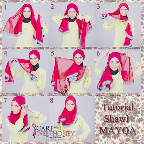 cara memakai hijab modern 3