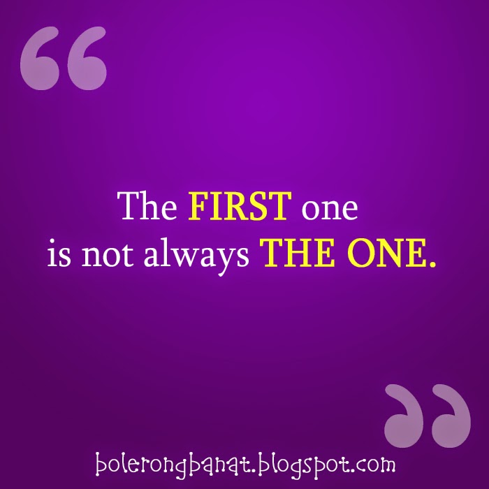 The first one is not always the one