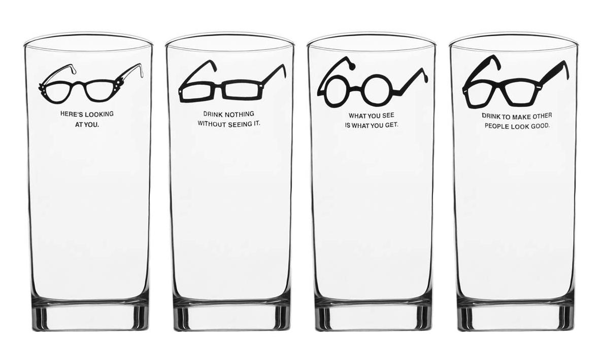 Glasses Frames Quotes : 17 Creative and Cool Drinking Glasses.