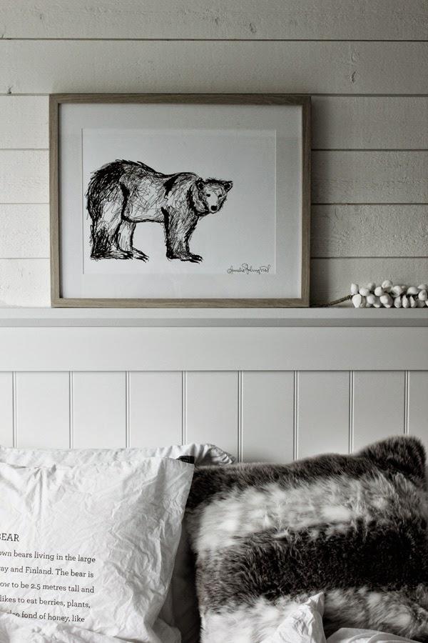 konsttryck, tavla isbjörn, tavlor, artprint, isbjörnar, poster, svart och vitt, svartvita, svarta och vita, på väggen, konst, sovrum, vitt