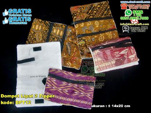 Dompet Lipat  Zipper Kain Batik