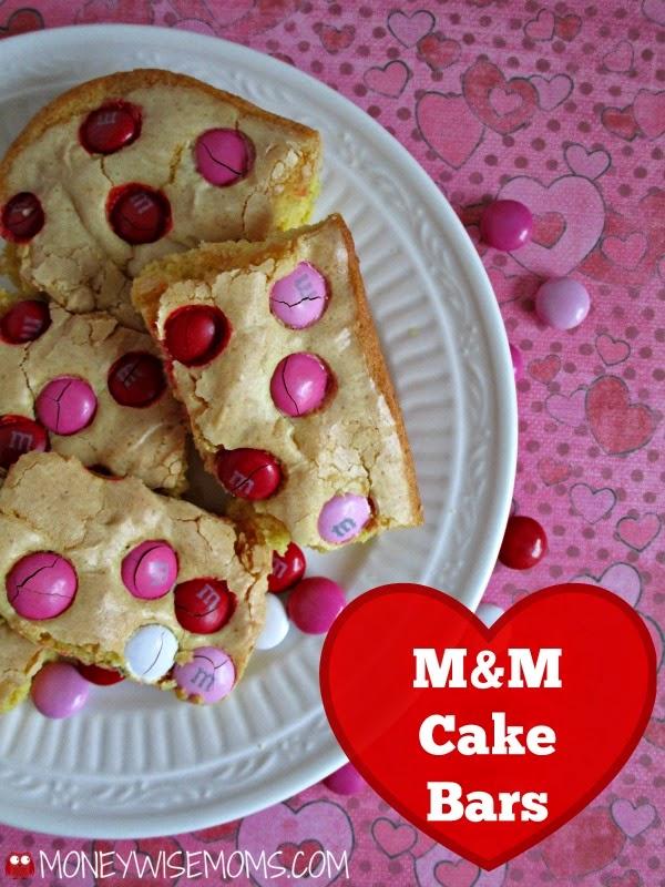 M&M Cake Bars