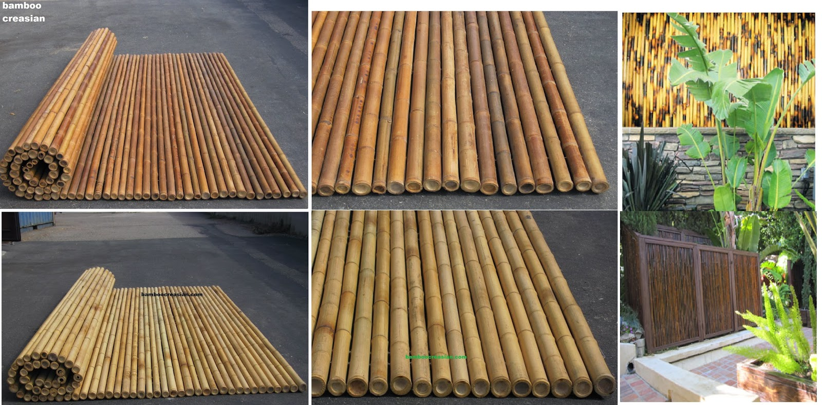 Creasians Fencing 6ft Bamboo Fencing rolls 1dia 8ft Rolled Fence Panel34