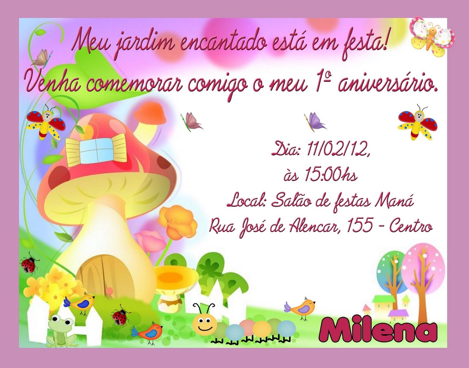 imagens de jardim encantado para convites:Image Convite Anivers Rio Festa Infantil Tema Jardim Encantado