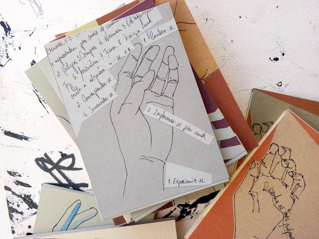 NOTEBOOK original illustration handmade A7 - the hands series by  Ana Pina