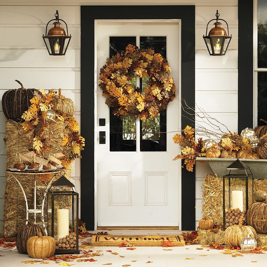 Front Porch Decorating: A Bit Of Bees Knees: Fall Decor From Pottery Barn