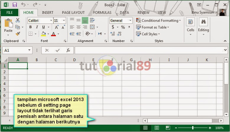 Cara setting page layout di Microsoft excel