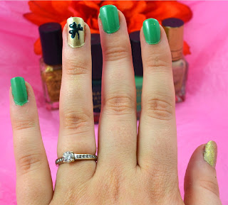 St Patricks day - nail art - nail polish - nail design