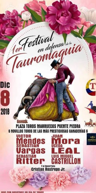 Colombia.08-12-2018. Festival en defensa de la Tauromaquia en Puente Piedra