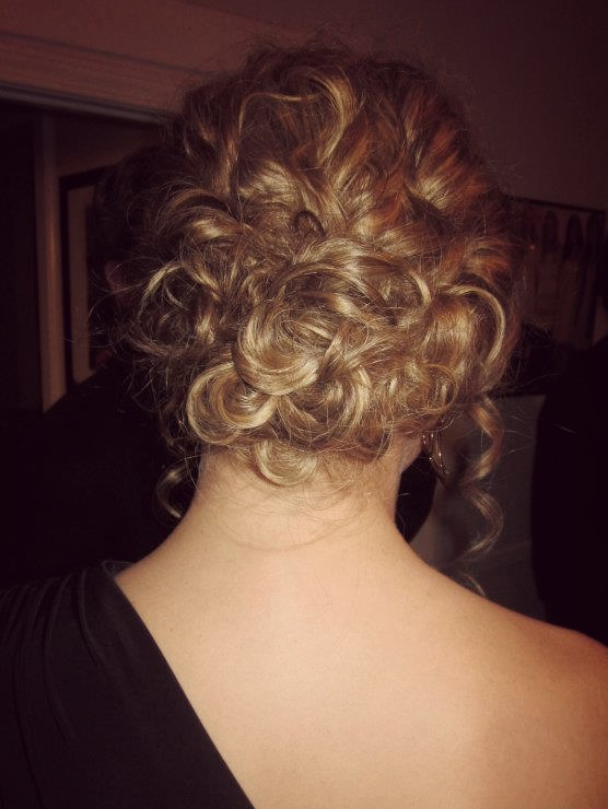 Pinned Up Pretty Curly Prom Updo