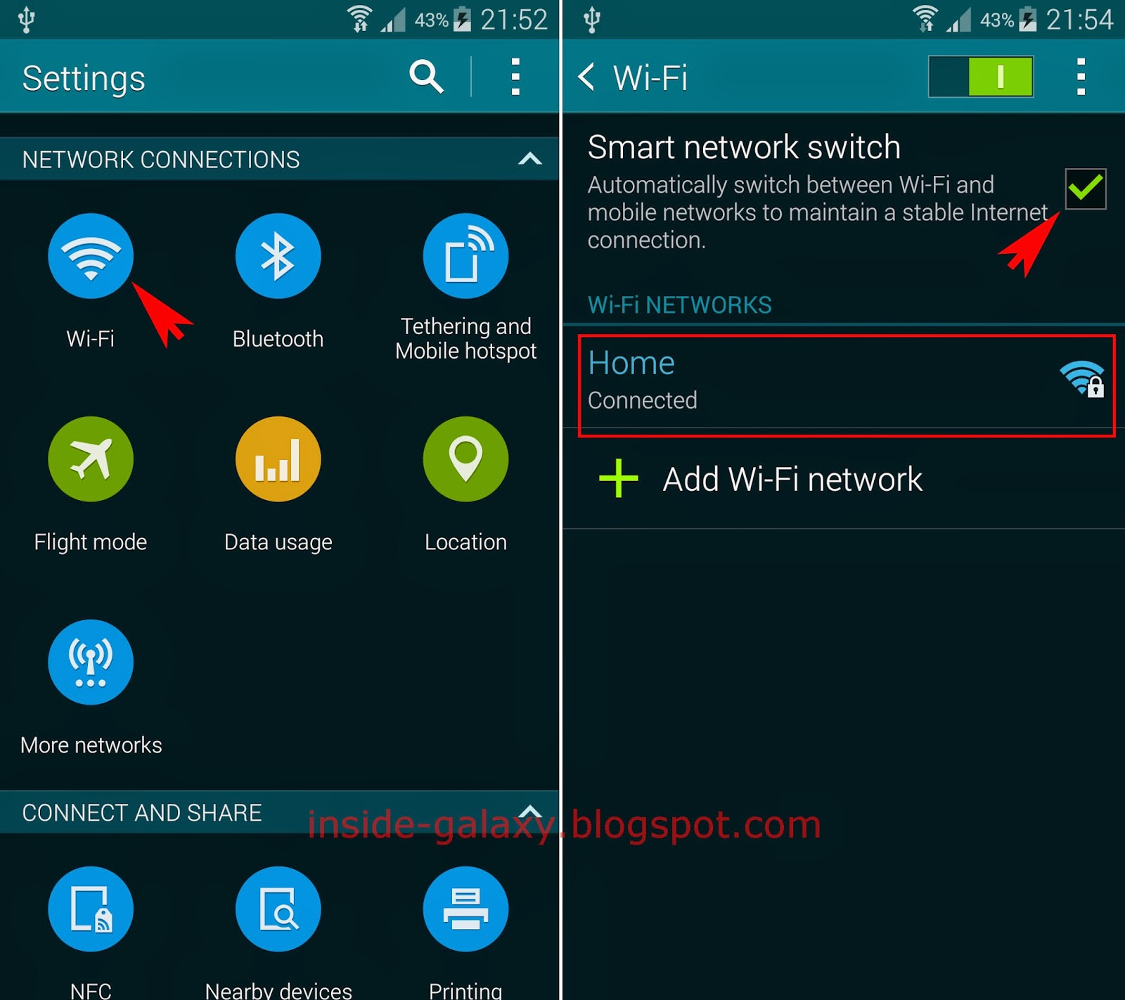 Smart Network Switch Galaxy S4 Wiring Diagrams Diagram Samsung S5 How To Use In Android 4 2 Rh Inside Blogspot Com Wifi