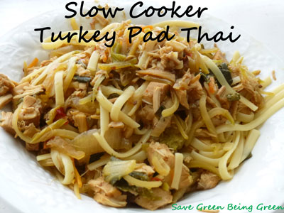 Save Green Being Green: Make It Monday: Slow Cooker Turkey Pad Thai