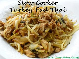 Save Green Being Green: Make It Monday: Slow Cooker Turkey Pad Thai