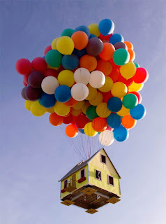 Houses It Can Fly It's the Balloon!