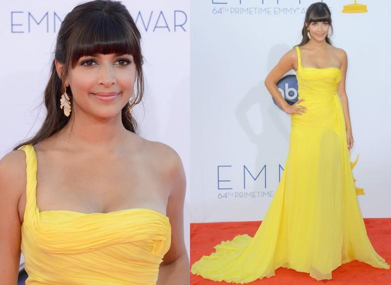 Hannah Simone In Emilio Pucci At The 64th Annual Primetime Emmy Awards