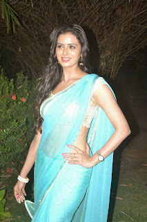 Actress Meenakshi Dixit Latest Pictures in Saree at Thenaliraman Movie Audio Launch 3.jpg
