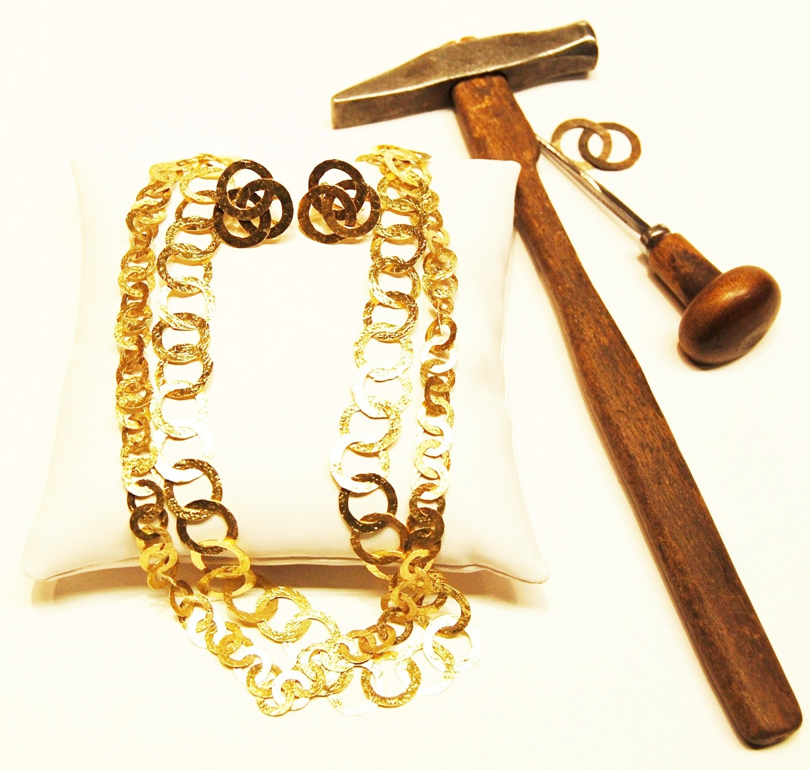 Home To Italy Florence Hammered Gold Jewelry an ancient tradition