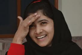 Malala Yousafzai is smiling