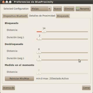 Configurar BlueProximity en Ubuntu