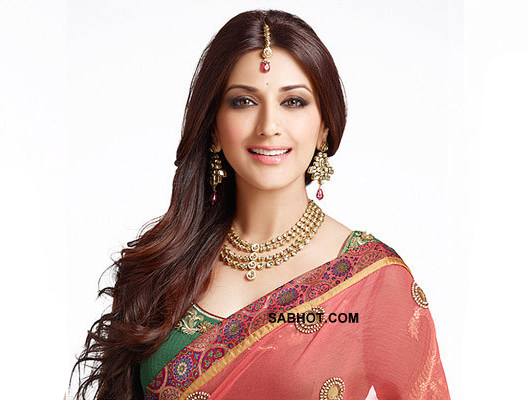 Sonali in a very traditional indian sari - (2) - Sonali bendre saree pics