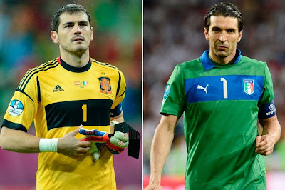 Oker Casillas Vs Gianluigi Buffon final Piala Eropa 2012 Polandia - Ukraina