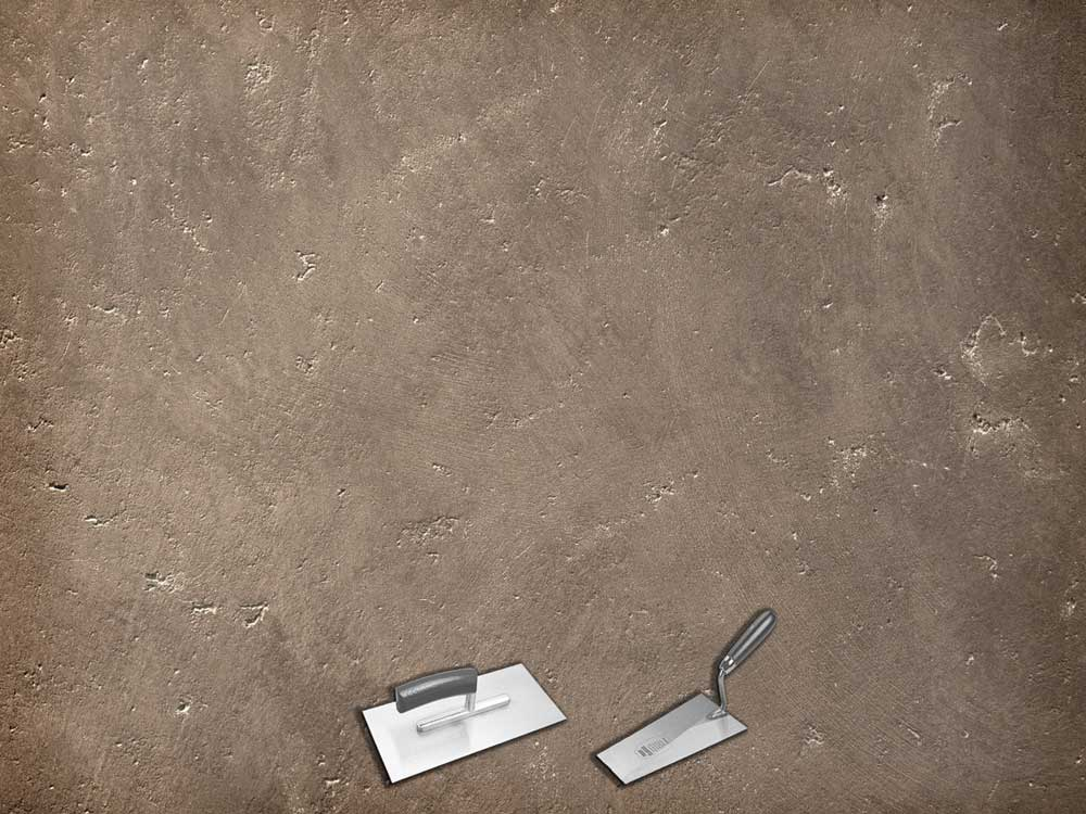 Merveilleux 1. Als Erstes Wird Der Relief Putz Mit Einem Spachtel Aufgezogen