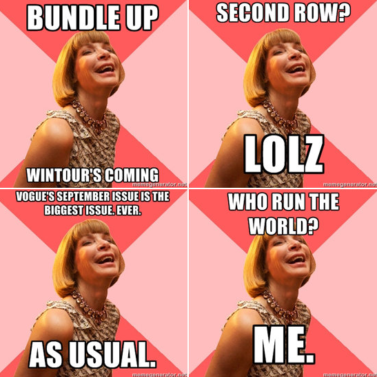Anna Wintour fashion meme