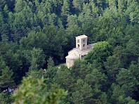 L'església de Sant Sadurní de Rotgers vista des del mirador