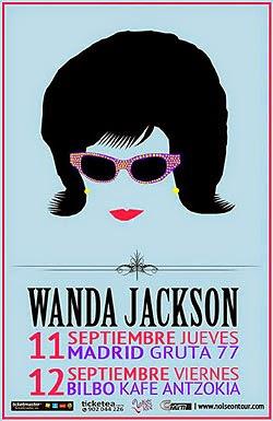 Conciertos de Wanda Jackson en Madrid y Bilbao en septiembre