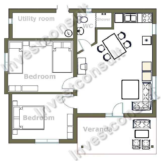 SAMPLE HOME 2010 Floor Plan  Modern House Plans Designs 2014