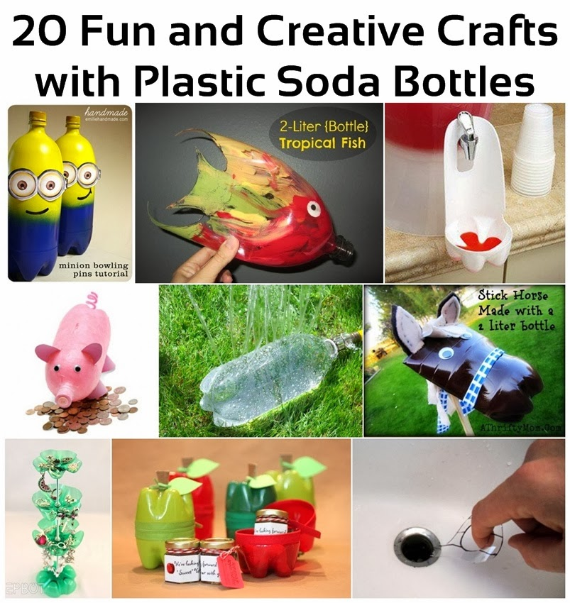 20+ Creative and Fun Crafts with Plastic Soda Bottles