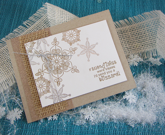 Snowflake card by Jennifer Jackson for Newton's Nook Deisgns | Beautiful Blizzard Stamp Set