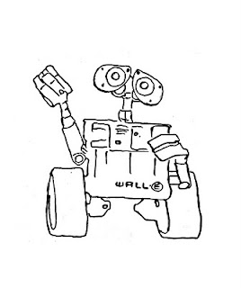wall-e colouring pages
