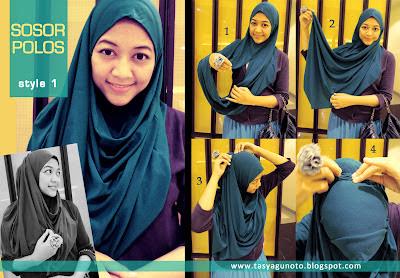 Tutorial Jilbab Sosor Polos Style 1