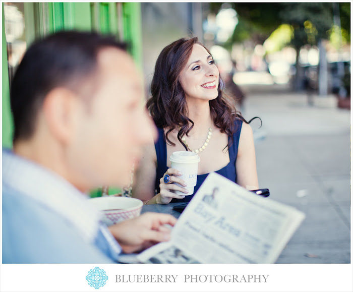 San Francisco Haight Street coffee shop engagement photography session
