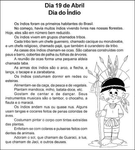 dia do indio atividades