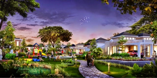 Taman didalam Cluster Carica Orchard Park Batam