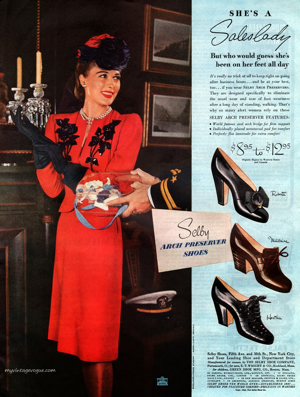 Vintage 1940s shoes ad