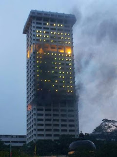 bangunan polis bukit aman bakar