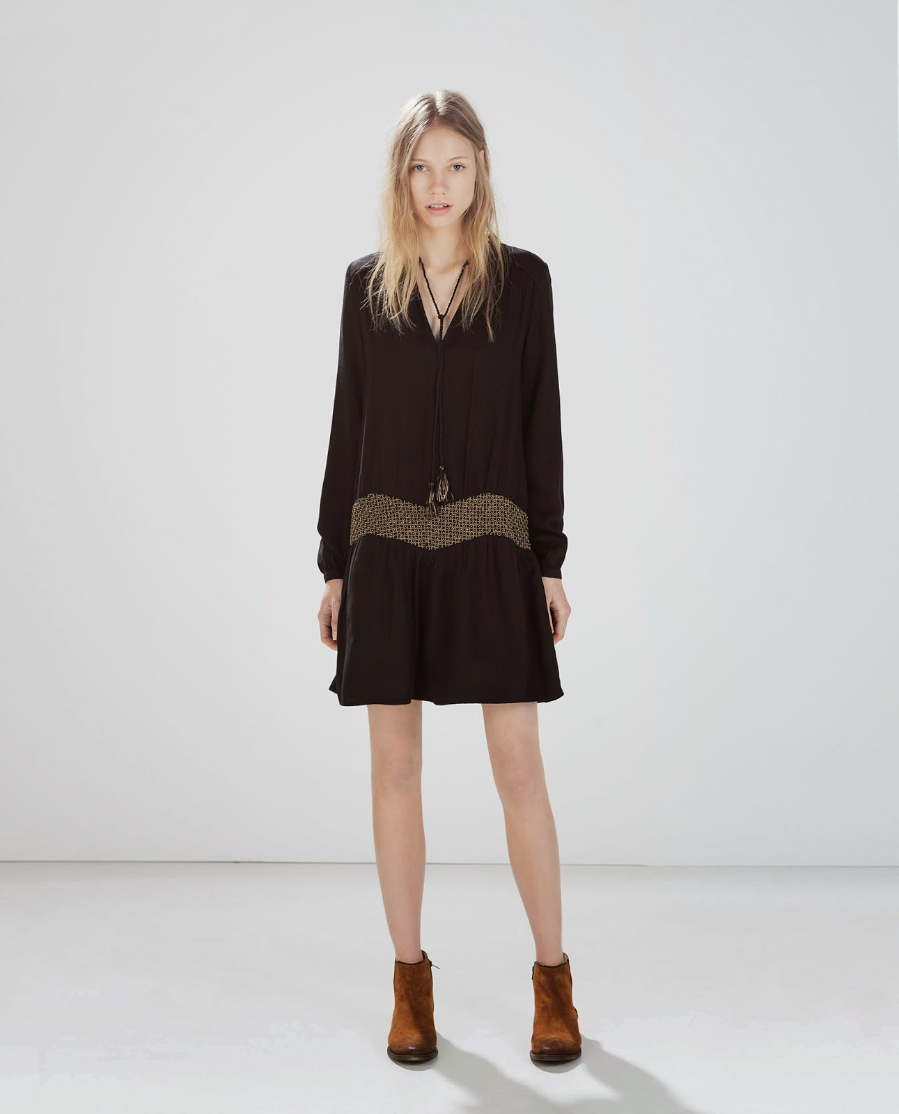 zara black festival dress, festival black dress,