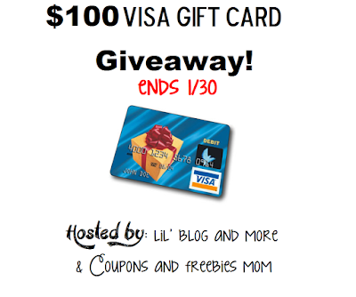 Enter the $100 Visa Gift Card Giveaway. Ends 1/30