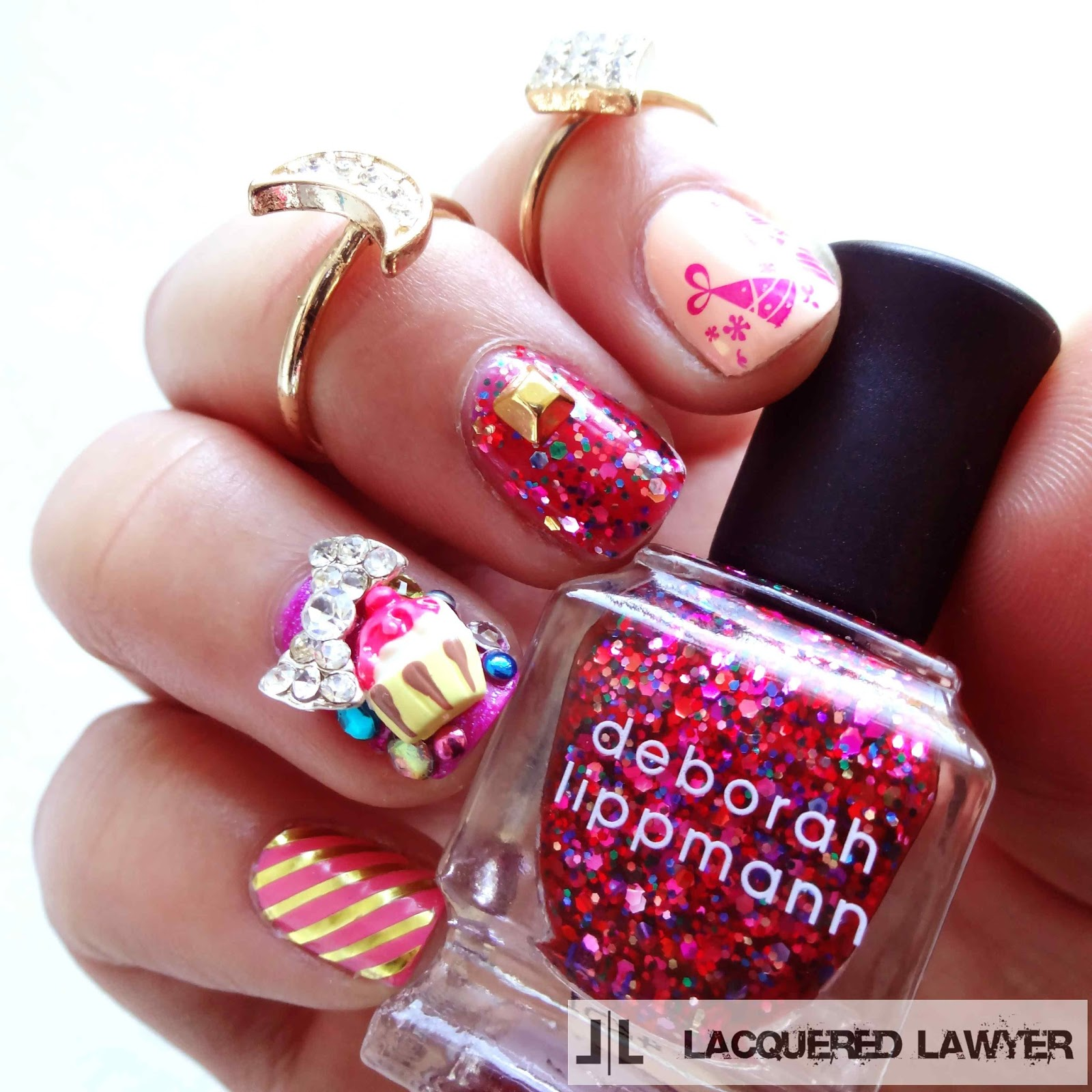 Party Pink Nails