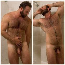Barbudo no banho
