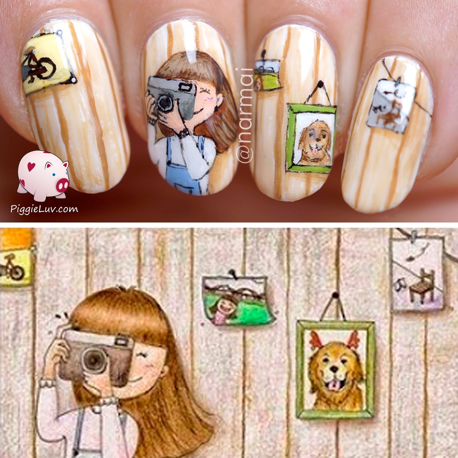 Piggieluv The Little Photographer Nail Art