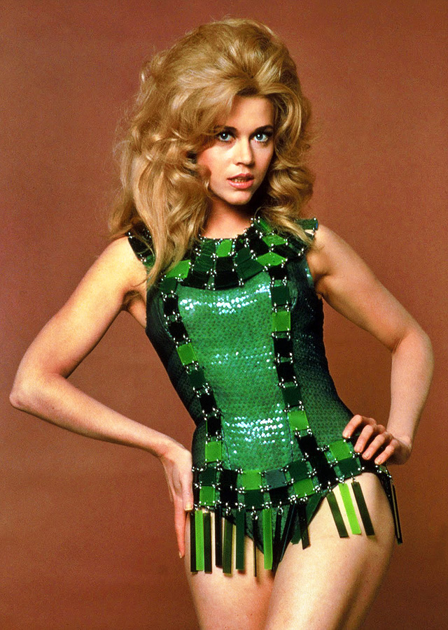 Actor Jane Fonda on movie Barbarella