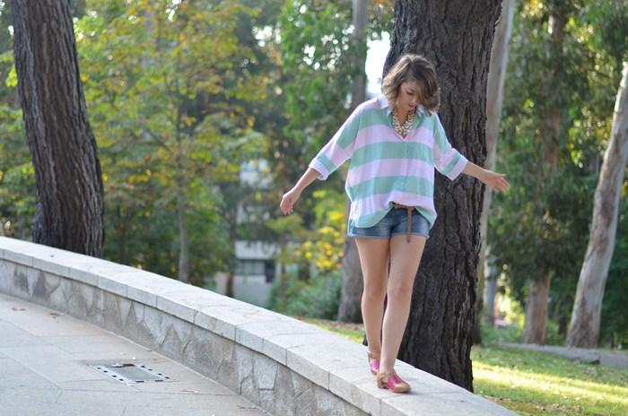 camisa de rayas oversize