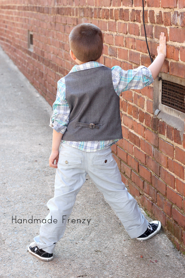 School Boy Vest - Pattern by Sew Much Ado